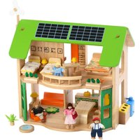 Large Wooden Eco Doll's House