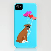 Boxer Dog With Hearts On Phone Case