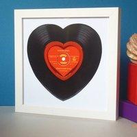 Loveheart Record Print