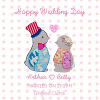 'Happy Wedding Day' Penguin Card