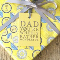 'Dad You're Wheely Rather Wonderful' Gift Wrap Set