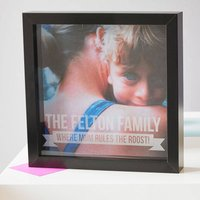Personalised Mother's Day Etched Framed Print, Black/White