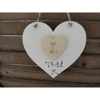 Personalised Wedding Heart Keepsake
