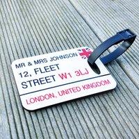 Three Luggage Tags British Street Sign Personalised