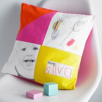 Personalised Photo Childrens Drawing Cushion