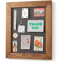 Old Wood Framed Pinboard Noticeboard, Charcoal/Grey