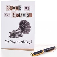 'Crank up the Sounds' Birthday Card