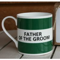 'Father Of The Groom' Mug, Coffee/Yellow/Lilac