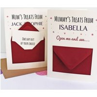 'Mum's Treats' Secret Messages Card