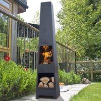 Malmo Chiminea Patio Heater And Log Store