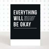 'Everything Will Be Okay' Get Well Sympathy Card