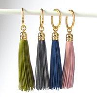 Leather Tassel Keyring, Pink/Gold/Silver