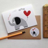 Heart And Elephant 'Special Step Mum' Mothers Day Card