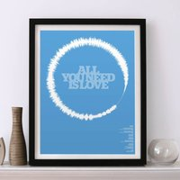 All You Need Is Love Limited Edition Soundwave Print, Blue/Orange/Red