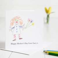 Personalised Childs Drawing Mother's Day Card