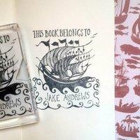 Personalised Ship 'Book Belongs To' Stamp