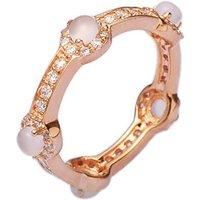 Rose Gold Quartz Stacking Ring, Gold