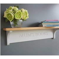 Personalised Shelf With Oak Top, Lime/White/Grey