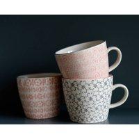 Set Of Three Hand Painted Danish Mugs
