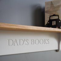 Dads Book Shelf In A Choice Of Colours, Lime/White/Grey