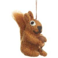 Handmade Felt Little Squirrel And Acorn