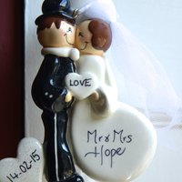 Personalised 'Mr And Mrs' Hanging Decoration