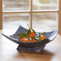 Hand Crafted Square Dark Marble Bowl