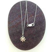 Silver Daisy Necklace, Silver