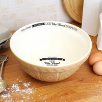 'Lick The Bowl' Personalised Baking Bowl