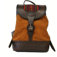 Bambina Backpack, Red/Mustard/Turquoise