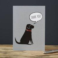 Black Labrador Thank You Card