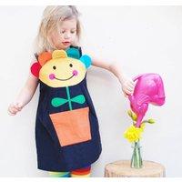 Flower Pot Baby Girls Pinafore Dress