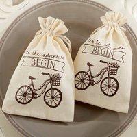 'Let The Adventure Begin' Vintage Inspired Favour Bag