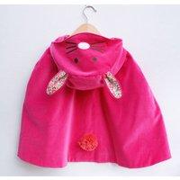 Bunny Rabbit Dress Up Cape Costume, Camel/Ivory/Pink