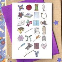 Sewing Alphabet Card