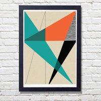 Diagonal Geometric Print