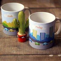 Personalised 'Traffic Mug' Ceramic