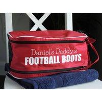 Personalised Football Boot Bag, Navy/White/Black