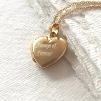 Personalised 18ct Gold Heart Locket Necklace, Gold