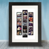 Personalised Photo Strip Frame, Black/White