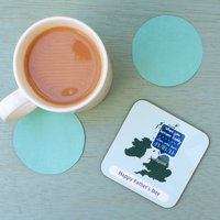 Personalised Men's 'Where Our Story Started' Coaster