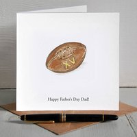 Vintage Rugby Ball Personalised Father's Day Card