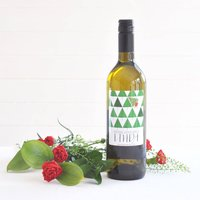Christmas Tree Personalised Rioja Or Sauvignon Wine
