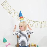 Multi Coloured Mini Party Hat Set Of Eight