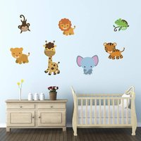Friendly Jungle Animals Wall Stickers Pack