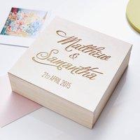 Elegant Personalised Couples Keepsake Box