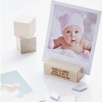 Personalised Baby Girl Photo Block