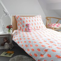 Pink Bunny Single Duvet Cover, Pink