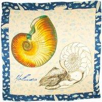 Silk Satin Chiffon Mollusca Shell Designer Scarf