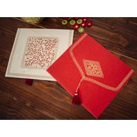 Three CD Gift Envelopes, Red/Cream/Grey